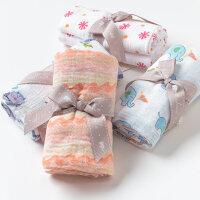 [2件3折价:32.1]戴维贝拉男女宝宝婴儿纱布棉包巾 抱毯DB2593-N