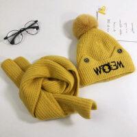 宝宝帽子婴幼儿保暖套头帽 户外男女童护耳毛线帽围脖套帽