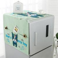 【新品特惠】韩式卡通冰箱盖布单开门冰箱防尘罩田园双开冰箱巾滚筒洗衣机盖巾