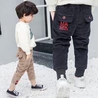 冬装儿童加绒长裤宝宝休闲裤小童灯芯绒加厚童装男童裤子