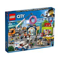 【当当自营】LEGO乐高积木城市组City系列60233 6岁+甜甜圈店开业