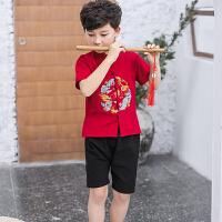 乌龟先森 儿童运动套装 男女童春季新款韩版小学生童装时尚男女孩体恤+长袖外套+长裤子儿童三件套装