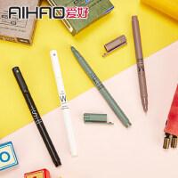 爱好韩国中性笔0.5可爱小清新签字笔黑蓝色学生用品0.35mm笔芯签字水性笔红笔办公文具批发