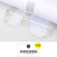 韩版透明平光镜女素颜大框网红眼镜框架潮软妹个性近视眼睛男复古