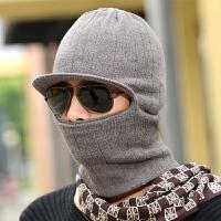 男士帽子韩版秋冬潮冬帽护耳针织保暖毛线帽户外骑车护脖包头帽