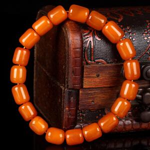 蜜蜡满蜡桶珠手串 直径8.5mm 9.62g