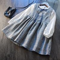 洋气~女童格子套装 2018春装新款儿童韩版打底衬衣+背心裙两件套
