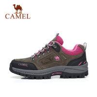 Camel/骆驼户外登山鞋 男女鞋情侣款秋冬牛皮防滑户外越野徒步鞋