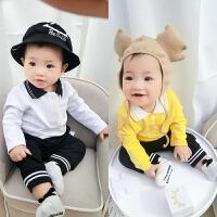 婴儿T恤0岁6个月秋冬长袖卫衣套头上衣男童小童女童打底衫春秋装