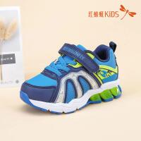 红蜻蜓童鞋韩版时尚拼接软底防滑圆头百搭儿童休闲鞋