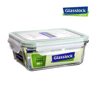 GlassLock/三光云彩韩国进口饭盒 便当 微波加热 食品保鲜盒 MCRT-098/RP712 容量980ml