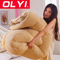 【100减20】OLYI 羊羔绒被子冬被加厚保暖学生被芯床上用品纤维被
