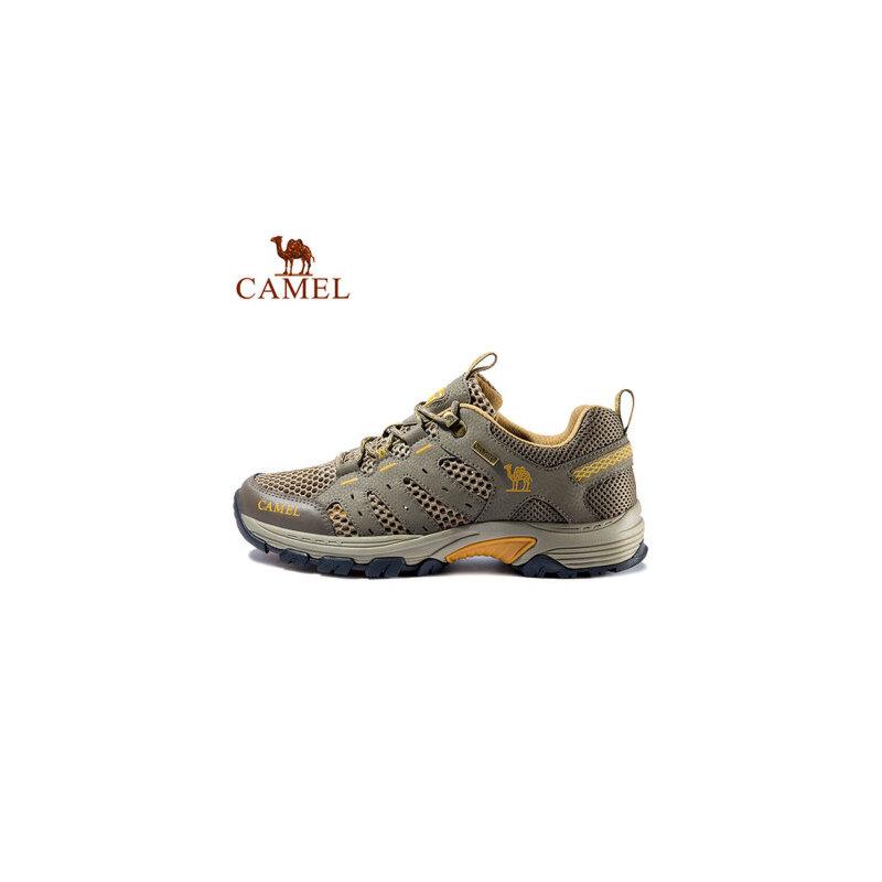 骆驼户外男女徒步鞋春夏耐磨透气系带低帮登山徒步鞋
