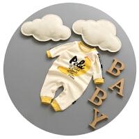 婴儿衣服秋季0-1岁新生儿连体衣春秋男宝宝哈衣纯棉3-6-9个月爬服