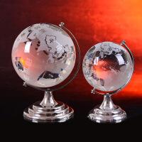 大小号地球仪摆件 水晶工艺品家居装饰礼品客厅桌面生日节日礼物