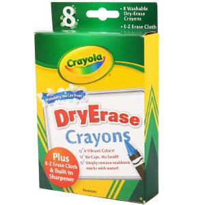 Crayola 绘儿乐 8色可水洗大蜡笔-白板用 98-5200
