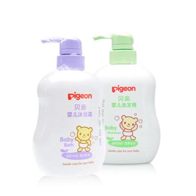 贝亲 婴儿洗发沐浴组合装 宝宝洗发500ml+宝宝沐浴露500ml