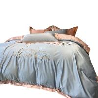 夏季冰丝四件套北欧风ins欧式丝滑水洗真丝床单被套床上用品4春秋