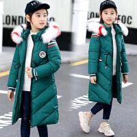 女童棉衣中长款韩版秋冬装洋气外套中长款女孩冬季潮