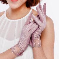 女夏薄款防紫外线开车手套骑电瓶车棉手机触摸屏手套防晒