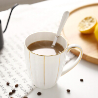 英国Royal Albert大容量手工描金水杯骨瓷陶瓷马克杯奶茶杯咖啡杯