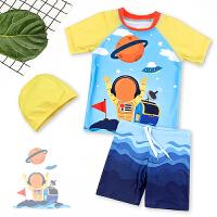 儿童分体泳衣男童速干中大童可爱男孩套装小童游泳装备