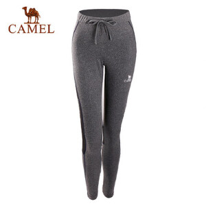 CAMEL/骆驼瑜伽女长裤时尚印花吸湿排汗弹力健身晨跑针织打底长裤