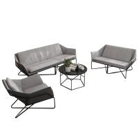 北欧沙发椅现代简约办公室铁艺沙发组合设计师工作室接待布艺沙发