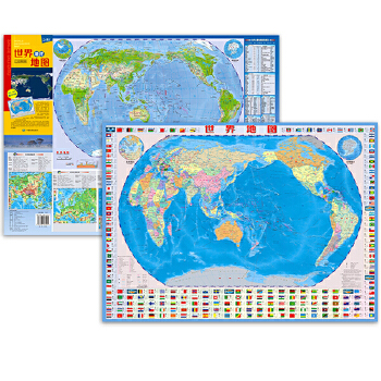 世界地图(4开撕不烂地图)连续6年热销,地理知识速读  学习 商务 旅游均适用。双面覆膜撕不烂,既防水、耐折,还可擦写;既可用于桌面阅读,也可随身携带,是地理学习、商务、旅游必备便携地图