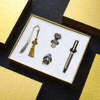 复古典中国风青铜签字笔金属创意书签32gu盘四件套装 高档送男女士圣诞节礼物 公司会议年会礼品定制logo刻字