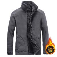 抓绒衣男加绒加厚冬季保暖摇粒绒户外开衫双面绒大码冲锋卫衣外套新品
