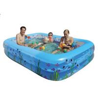 盈泰二环充气游泳池加厚充气水池 家庭室外大型泳池儿童宝宝游泳桶家用洗澡桶新生儿浴盆