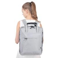 旅行双肩防水休闲大容量多功能手提背包轻便韩版户外出行纯色书包