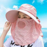 户外骑车帽子大檐防晒帽 出游百搭遮脸防紫外线太阳帽 透气遮脸遮阳帽女