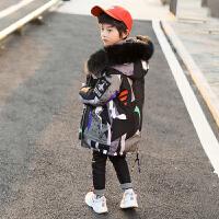 中大童中长款韩版童装潮男童棉衣冬装儿童袄外套