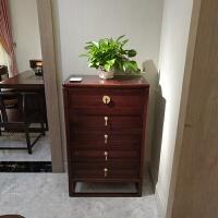 新中式实木斗柜现代简约收纳柜客厅四五六储物柜卧室斗柜家具定制 五斗柜 整装