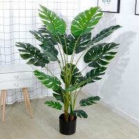 仿真龟背叶植物ins北欧植物盆栽室内摆件假绿植装饰家居客厅摆设