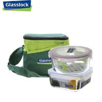 三光云彩glasslock钢化玻璃饭盒保鲜盒便当盒微波炉饭盒两件套GL35-A玻璃盒