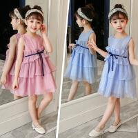 儿童雪纺公主裙女童装夏装中大童洋气荷叶边连衣裙子