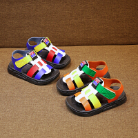儿童凉鞋夏季拼色宝宝凉鞋小童学步沙滩鞋软底