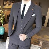 套装男士西装三件套修身韩版商务正装休闲小西装男外套潮