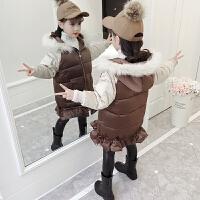 韩版儿童冬装中长款加厚小女孩洋气棉袄外套女童棉衣