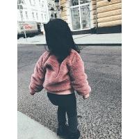 女童兔毛刺绣儿童装秋冬加厚保暖女宝宝厚上衣卫衣
