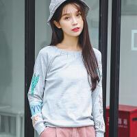 新款秋冬装开学季上衣服宽松长袖t恤女装学生韩版百搭打底衫外穿新款