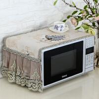 微波炉罩防尘罩烤箱盖布美的格兰仕厨房家用防油微波炉盖巾盖布