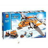 新品 乐高式60064雪地警察城市CITY北极物资运输飞机拼装积木玩具博乐10441