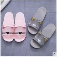韩版可爱情侣家居拖鞋女夏季室内防滑凉拖鞋浴室洗澡家用软拖鞋男