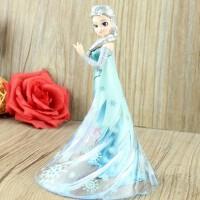 冰雪奇缘公仔模型 爱莎安娜女王皇后艾莎公主摆件娃娃女孩玩具