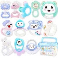 奶瓶装婴儿玩具牙胶摇铃 新生儿宝宝床铃婴幼儿童牙胶手摇铃男孩女孩0-1岁