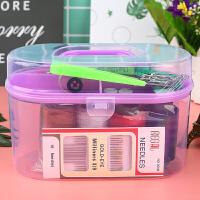 家用针线套装携便手提式针线盒手缝针线工具包多功能缝纫针工具盒